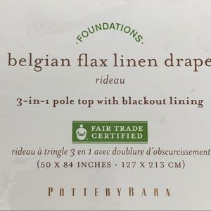 Pottery Barn Accents - Pottery Barn1 Belgian Flax Linen Drape Panel
